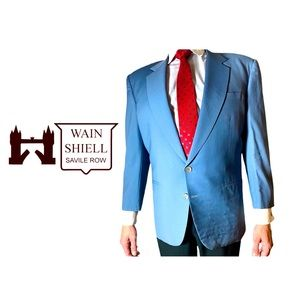 Wain Shiell Vintage English Two Button Suit Jacket